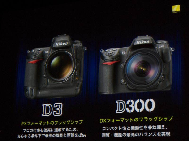 发布D3,与此同时发布的是D300