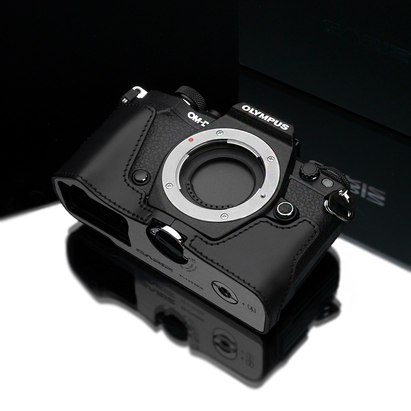 GARIZ、OM-D E-M5 Mark II用レザーケース 独自の速写ストラップ機構に対応